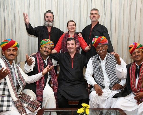 With Rajasthani musicians in Delhi